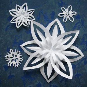 Красивые объемные снежинки из бумаги (70)