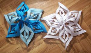 Красивые объемные снежинки из бумаги (71)