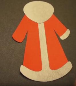 Аппликация на новогоднюю тему. Поделка Дед Мороз своими руками из бумаги (10)
