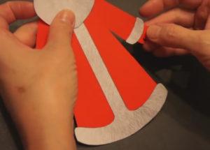 Аппликация на новогоднюю тему. Поделка Дед Мороз своими руками из бумаги (12)