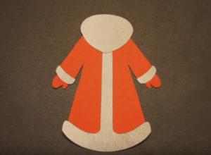 Аппликация на новогоднюю тему. Поделка Дед Мороз своими руками из бумаги (13)