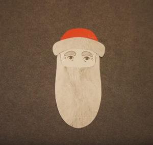 Аппликация на новогоднюю тему. Поделка Дед Мороз своими руками из бумаги (20)