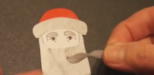 Аппликация на новогоднюю тему. Поделка Дед Мороз своими руками из бумаги (21)