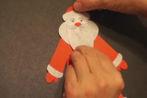 Аппликация на новогоднюю тему. Поделка Дед Мороз своими руками из бумаги (23)