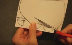 Аппликация на новогоднюю тему. Поделка Дед Мороз своими руками из бумаги (33)