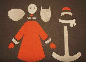 Аппликация на новогоднюю тему. Поделка Дед Мороз своими руками из бумаги (4)