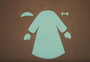 Аппликация на новогоднюю тему. Снегурочка из бумаги своими руками (1)