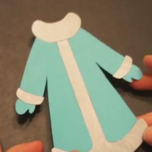 Аппликация на новогоднюю тему. Снегурочка из бумаги своими руками (10)
