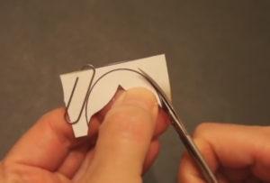 Аппликация на новогоднюю тему. Снегурочка из бумаги своими руками (29)