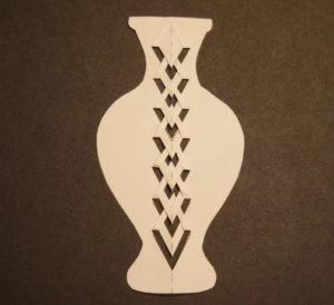 Аппликация цветы в вазе (41)