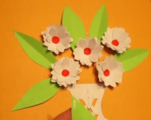 Аппликация цветы в вазе (73)