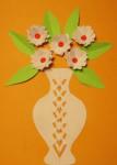 Аппликация цветы в вазе (74)