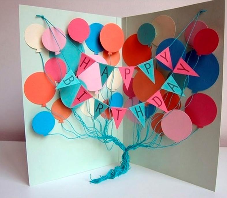 Как сделать красивую открытку с днём рождения своими руками из бумаги 68