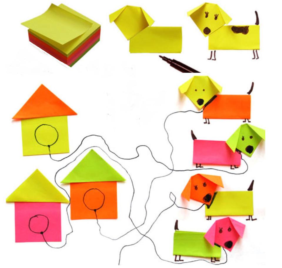 Поделки из цветной бумаги для дошколят пошагово