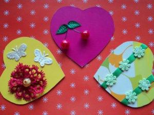 Не сложные валентинки своими руками (8)