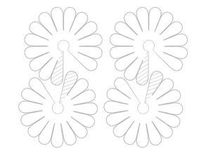 Объемная аппликация цветы (24)