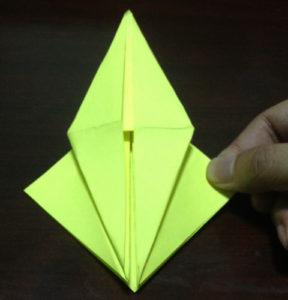 Оригами из бумаги журавлик (15)