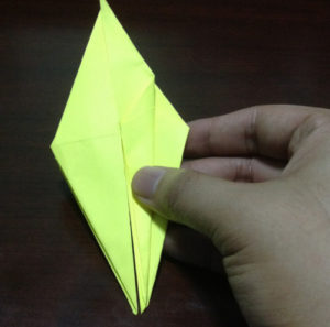 Оригами из бумаги журавлик (17)