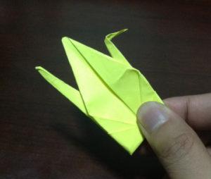 Оригами из бумаги журавлик (22)