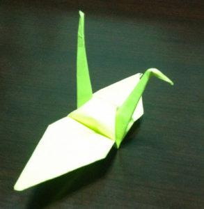 Оригами из бумаги журавлик (23)