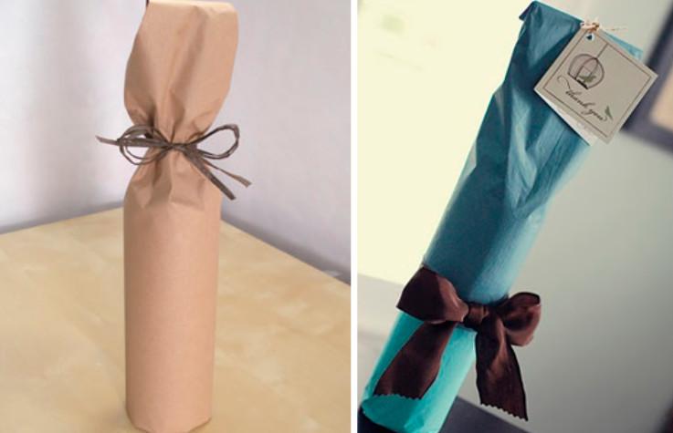 Как упаковать бутылки в подарок 40