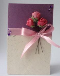Подарок маме на 8 марта. Как сделать легкую открытку (2)