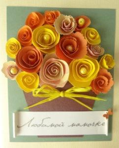 Подарок маме на 8 марта. Как сделать легкую открытку (22)