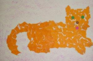 Поделки для детей старшей группы детского сада. Аппликация из обрывной бумаги (1)