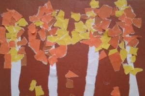 Поделки для детей старшей группы детского сада. Аппликация из обрывной бумаги (2)