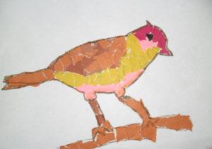 Поделки для детей старшей группы детского сада. Аппликация из обрывной бумаги (7)