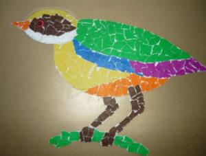 Поделки для детей старшей группы детского сада. Аппликация из обрывной бумаги (9)