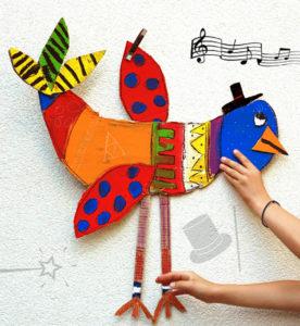 Птицы из картона своими руками (16)