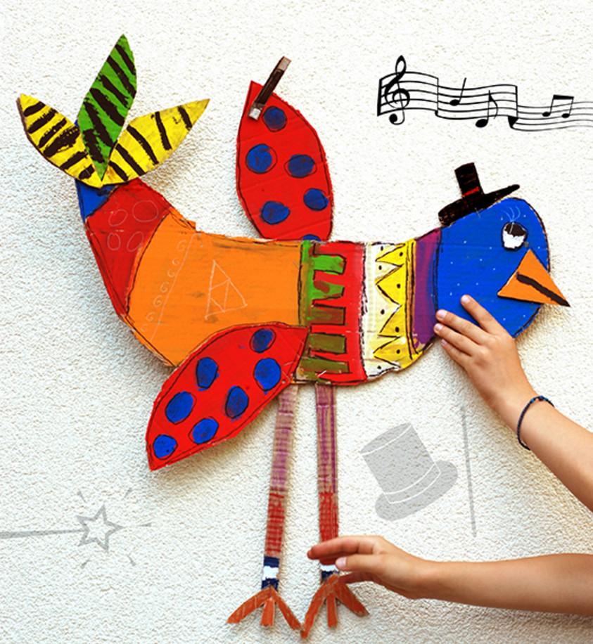 Объемные птички из картона своими руками 36