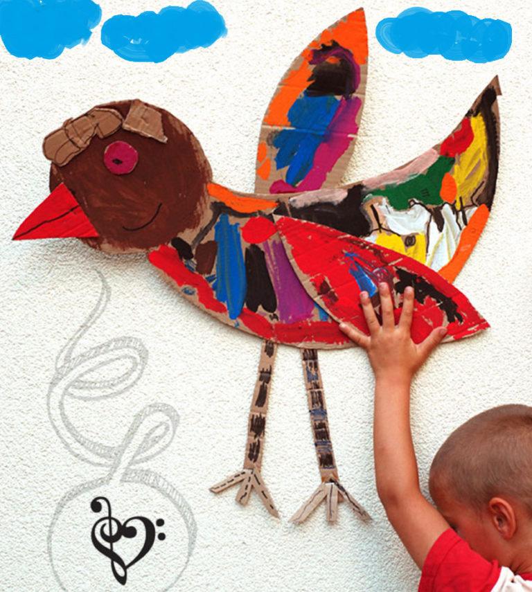 Объемные птиц из картона и бумаги