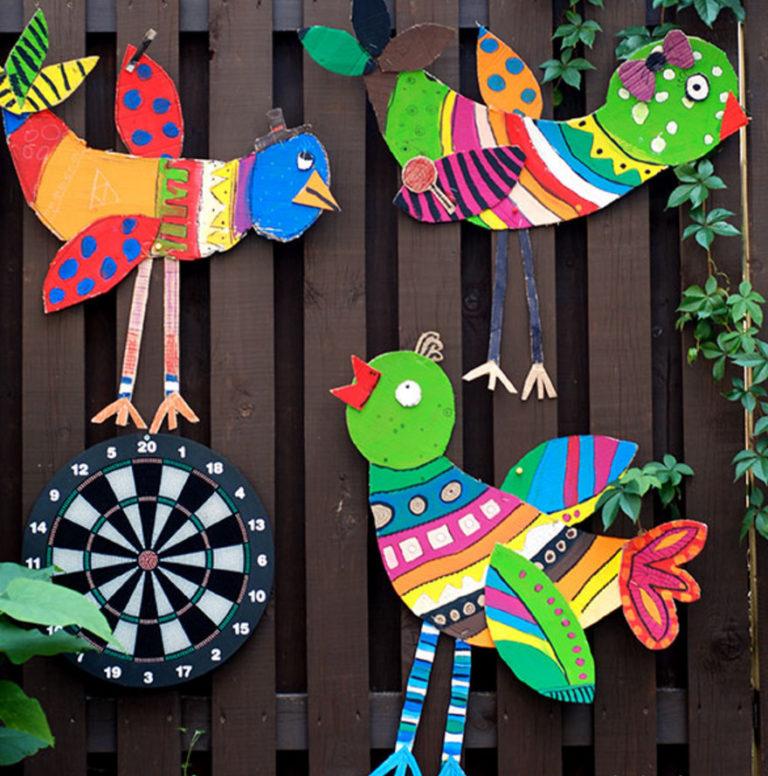 Объемные птички из картона своими руками 84