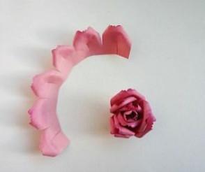 Самые простые цветы из бумаги своими руками (6)
