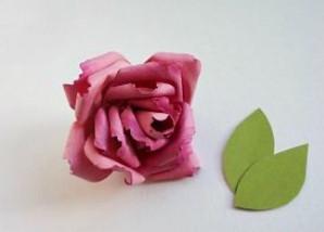 Самые простые цветы из бумаги своими руками (7)