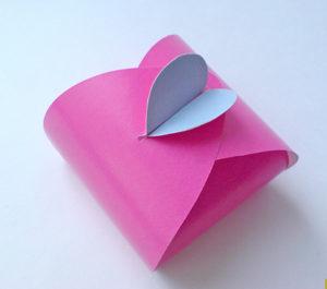 как сделать сердечко из бумаги своими руками (15)