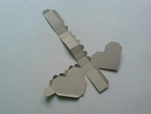 как сделать сердечко из бумаги своими руками (9)