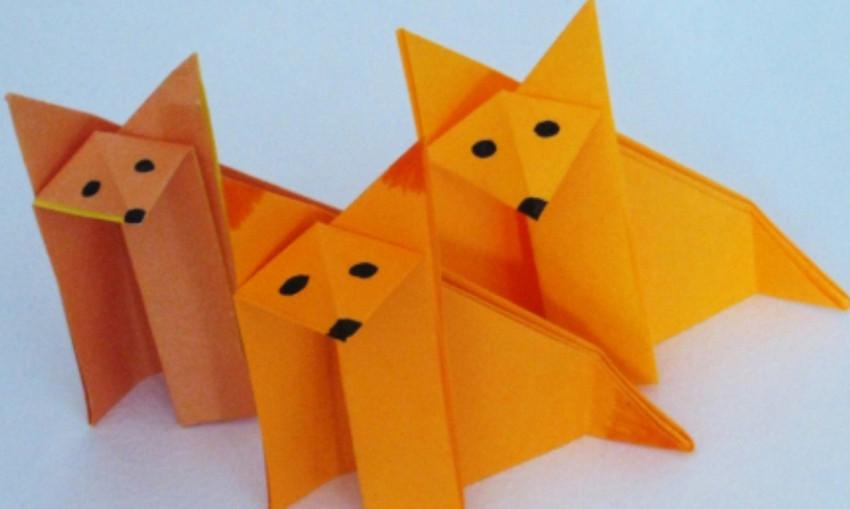 Сделать из бумаги поделку животное