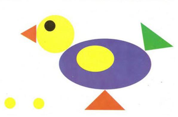 Аппликация из геометрических фигур шаблоны (14)