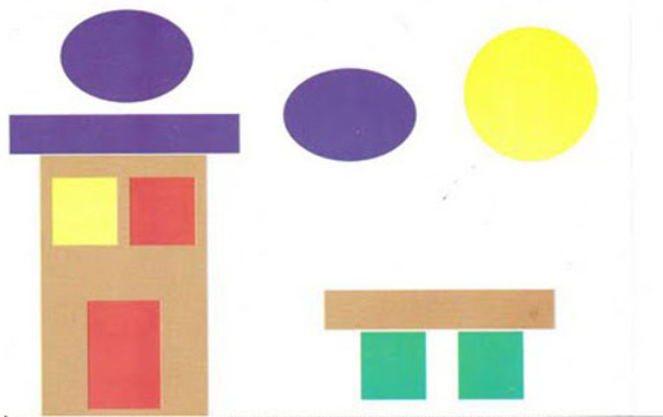 Аппликация из геометрических фигур шаблоны.