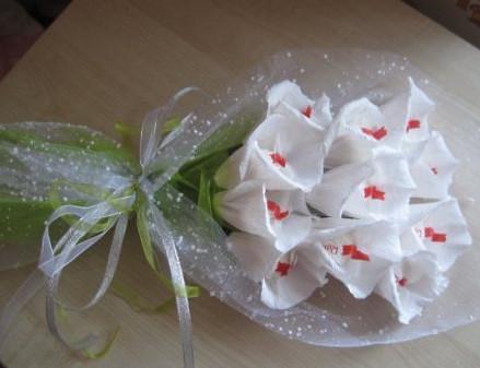 Мастер класс цветок с конфетой
