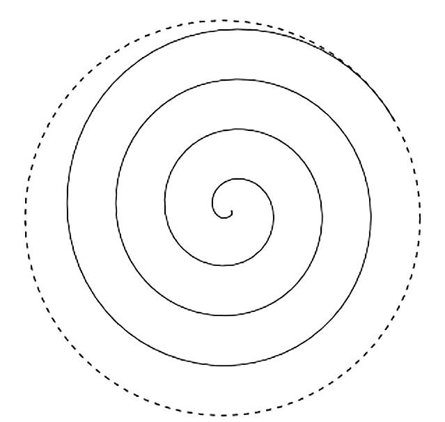 Из бумажных спиралей.