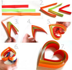 Как делать сердечки из бумаги (21)