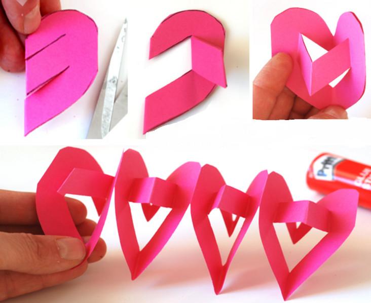 Как сделать из сердечка из бумаги