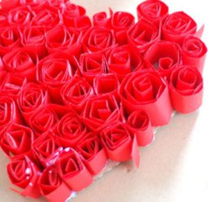 Как делать сердечки из бумаги (3)