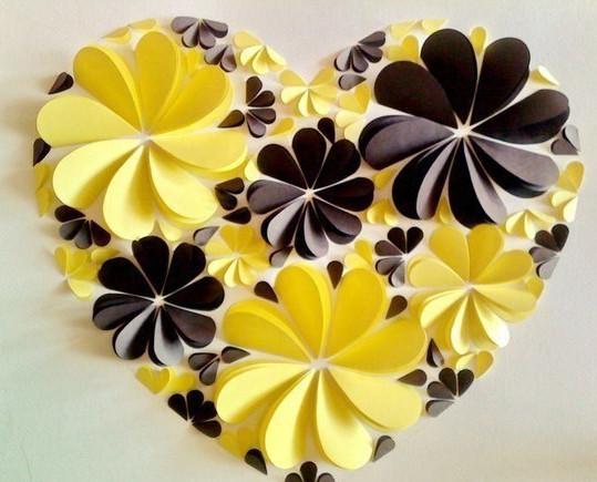 Как делать сердечки из бумаги (55)