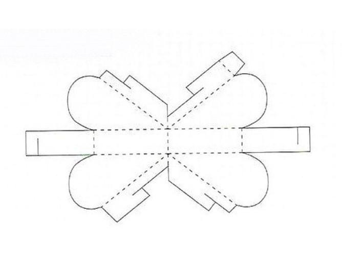Коробки своими руками из бумаги схемы