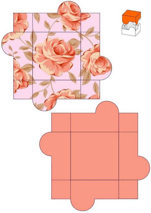 Коробочка для подарков шаблоны